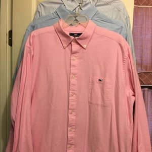 LN Vineyard Vines Pink Slim fit Tucker Shirt XXL